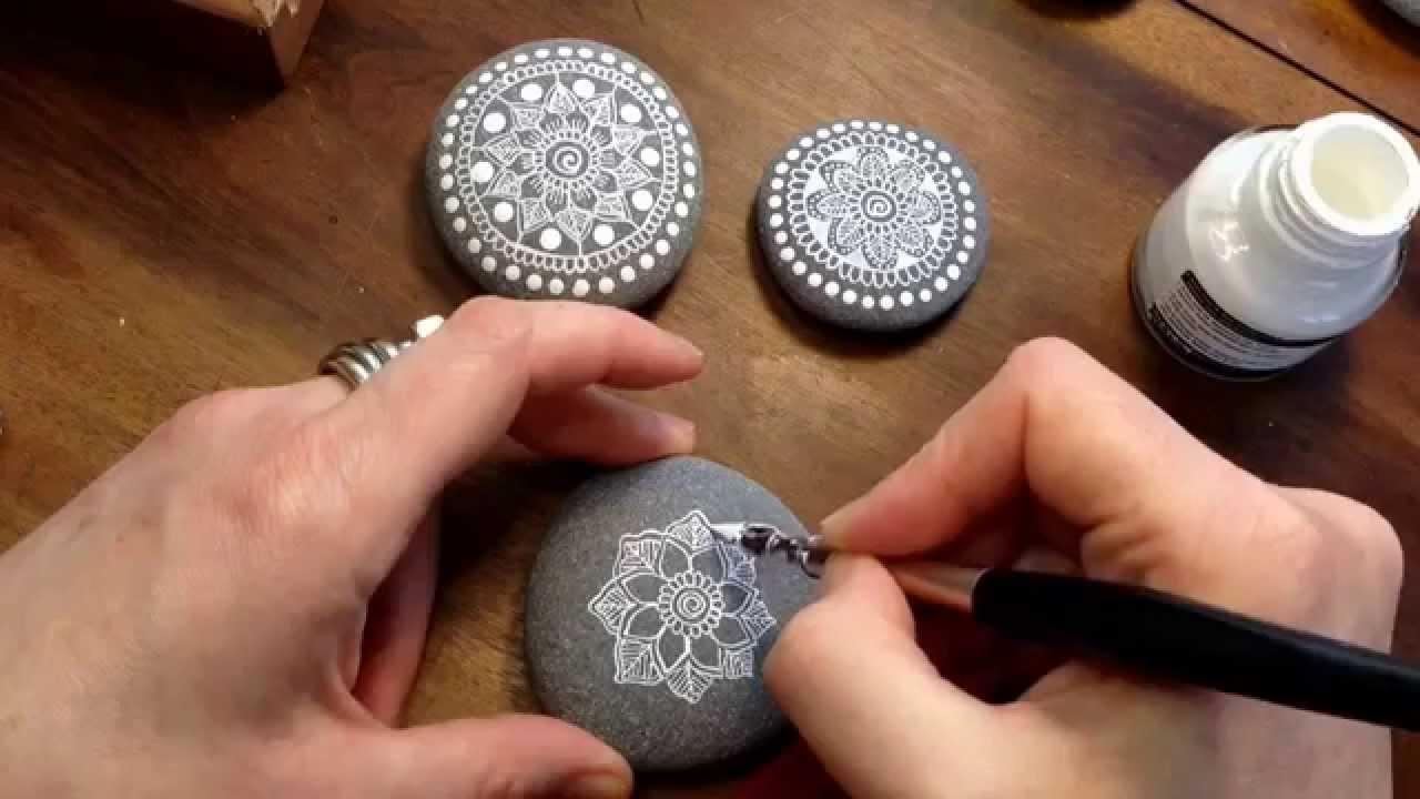 How To Paint Stones In Acrylic