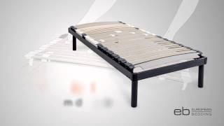 Adjustable Slatted Bed Base Provides Customised Sleeping Comfort & Support