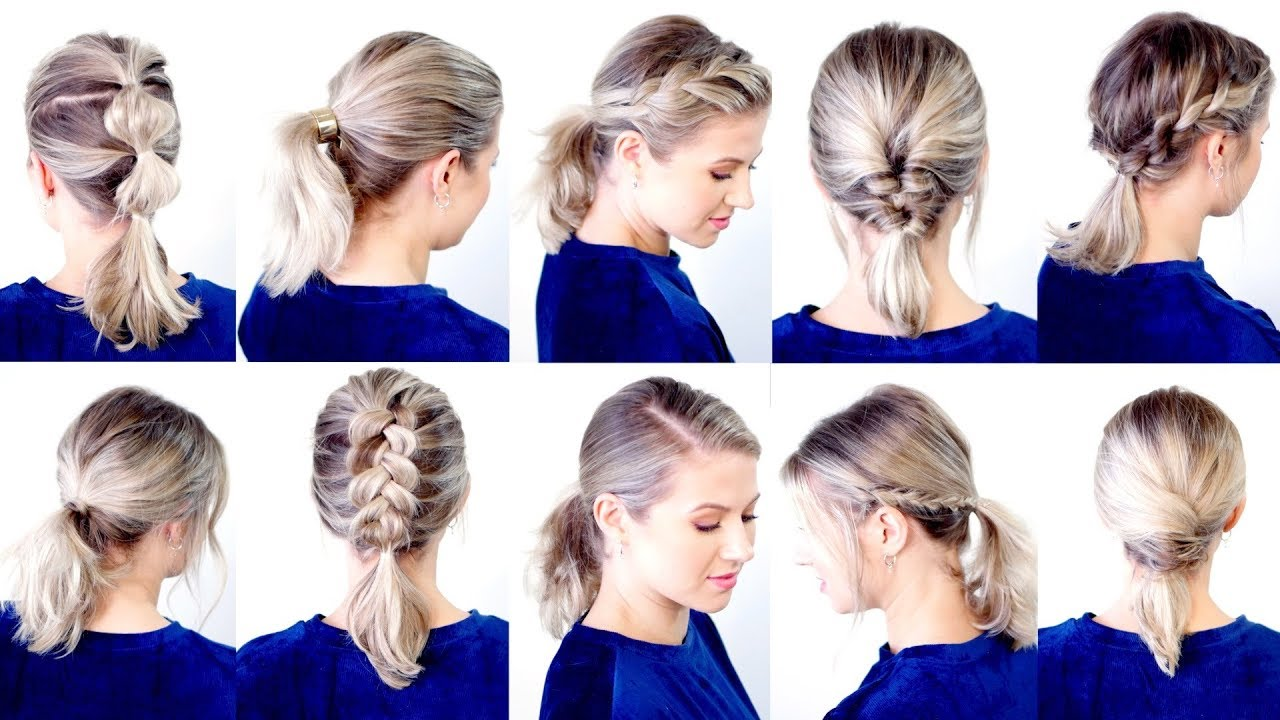 10 CUTE \u0026 EASY LOW PONYTAIL HAIRSTYLES