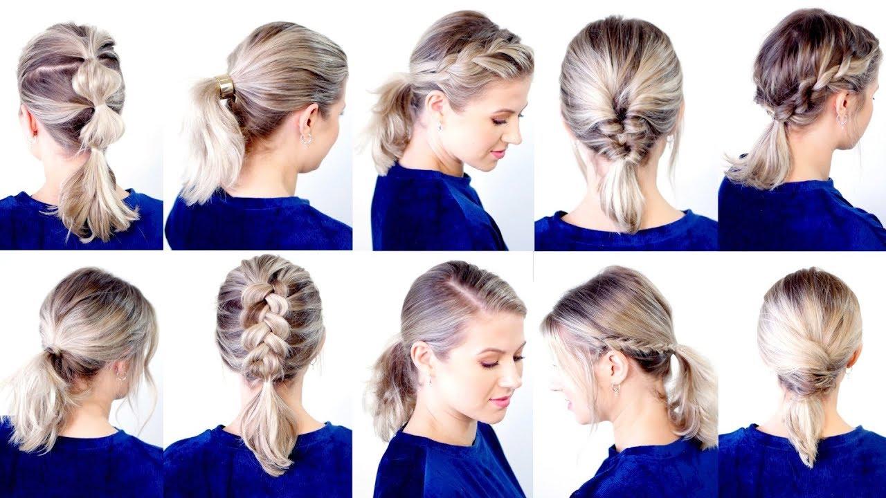 10 cute & easy low ponytail hairstyles | milabu