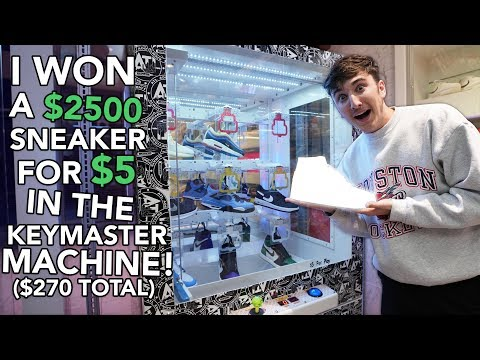 I Won $2500 SNEAKERS For $5 In KEYMASTER Machine ($270 Spent Total)