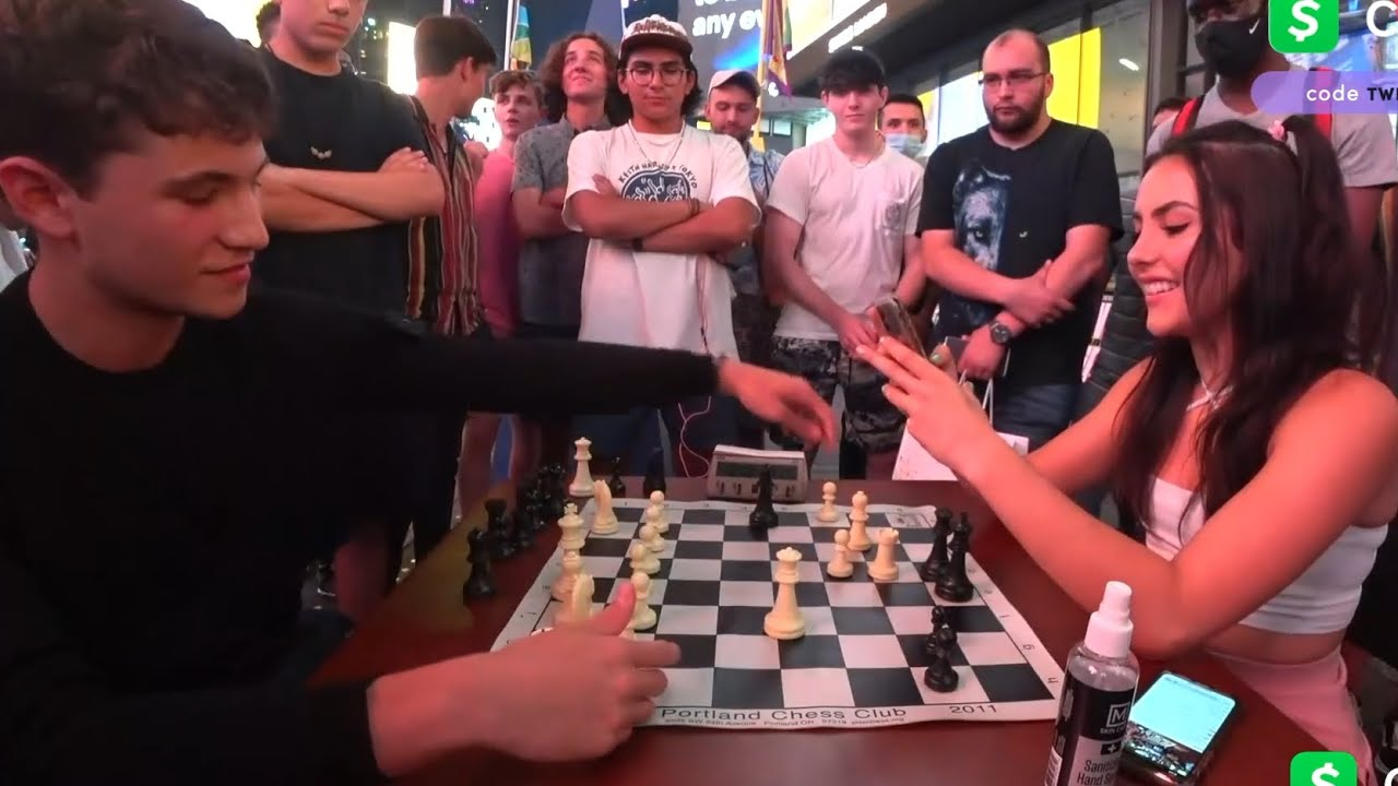 Viewer wins Andrea's phone number in a chess game...