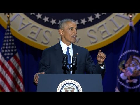 President Obama warns of threats to democracy in farewell address