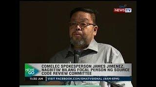 Comelec spokesperson James Jimenez, nagbitiw bilang focal person ng source code review committee