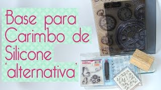 Material Alternativo Scrapbook- base para carimbo de silicone alternativa -Scrapbook by Tamy