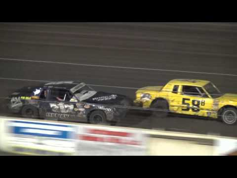 4th Annual Fall Extravaganza Night 1/ IMCA Hobby Stock feature Lee County Speedway 10/9/15