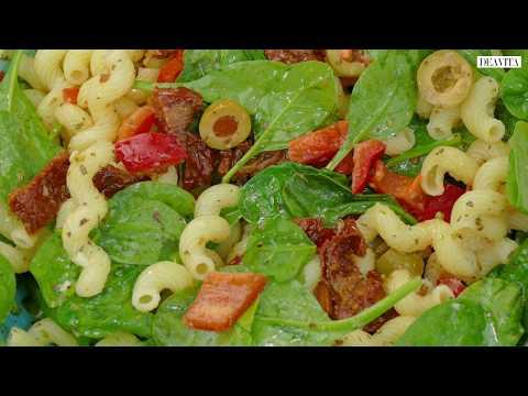 salade-de-pâtes-aux-tomates-séchées-faite-en-un-tour-de-main-et-à-déguster-chaude-ou-froide!