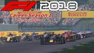 "F1 2018 Career S1 - Hungary Race ""Lucky Wing"""