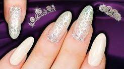 ROYAL WEDDING NAILS - PRINCESS MEGHAN MARKLE Nude Stamping Pearlescent Nail Art
