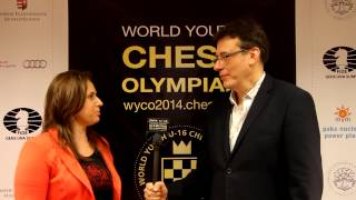 Interview with Judit Polgar, the strongest female player ever, at the U16 Chess Olympiad