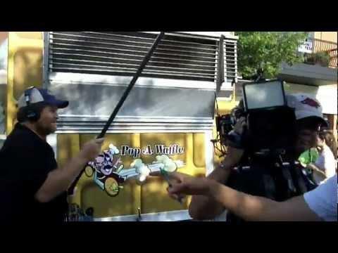 Great Food Truck Race 2012 Fayetteville filming S03 E04 my #GreatFoodTruckRace vlog Food Network TV