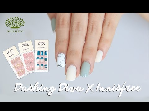 HOW I DO MY NAILS USING DASHING DIVA MAGIC PRESS - WHITE MARBLE NAILART | Erna Limdaugh