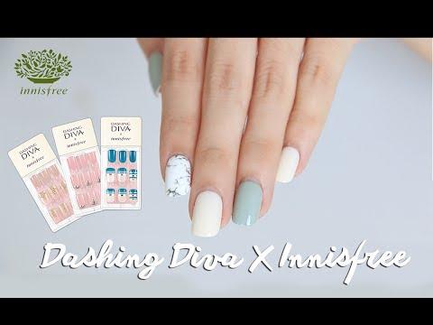 HOW I DO MY NAILS USING DASHING DIVA MAGIC PRESS - WHITE MARBLE ...