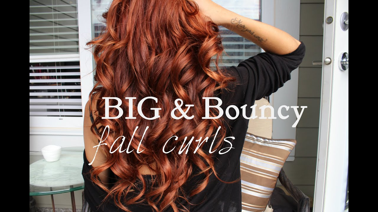 Big Bouncy Fall Curls Hair Tutorial Long Amp Thick Hair