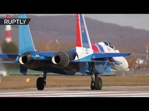 The Russian Knights aerobatic team receives new Su-35S fighters