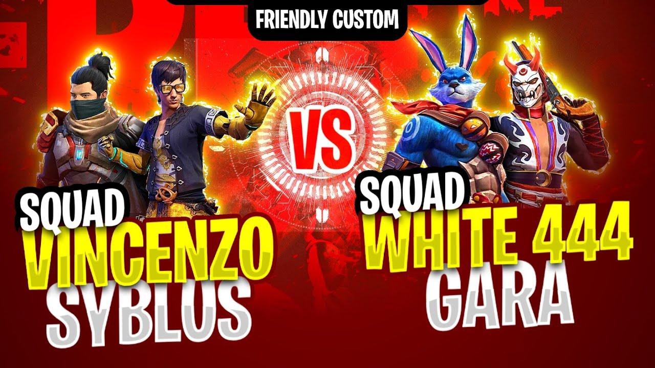 Vincenzo, Syblus Vs white444, Gara squad || Free fire most intense match b/w legends- Nonstop gaming