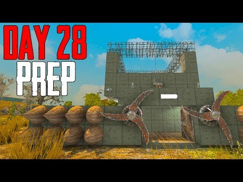 Base Building for Day 28 Horde! - 7 Days to Die [Season 2 - #28]