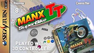 SEGA MANX TT Gameplay Saturn with Sega 3D CONTROLLER 1080p (MAN TT arcade racer)
