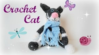 Вязание крючком. Кот (Crochet cat). Часть 3