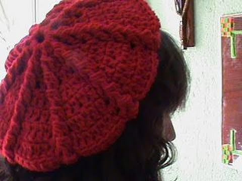2 DE 3 COMO TEJER GORRO BOINA MEDIANA GANCHILLO CROCHET - YouTube 267f8745cd3