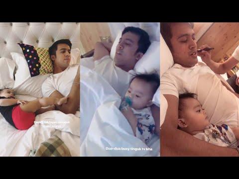 Aliff Aziz ajar baby Ayden sebut daddy