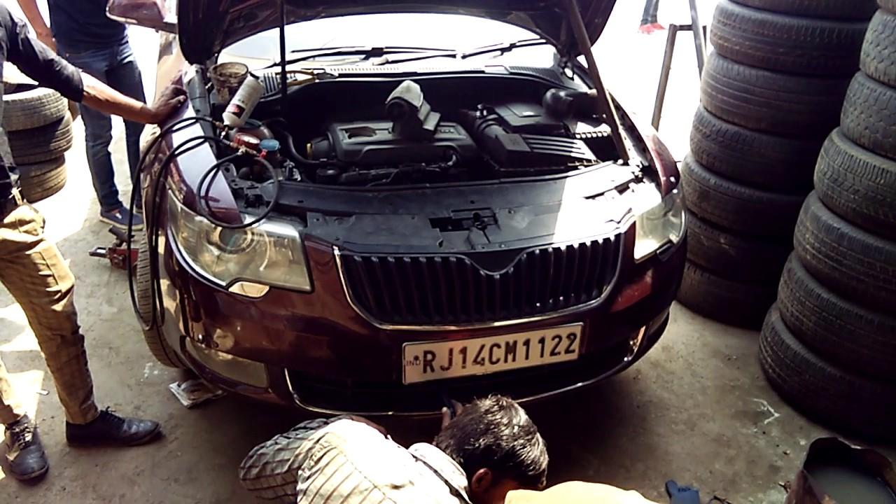 Rj 14cm 1122 Ac Works Yamin Motor Car Ac Mayapuri Youtube