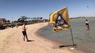 Обзор пляжа при отелях Титаник Палас и Титаник Бич Популярные отели Хургады с аквапарком Египет 2021
