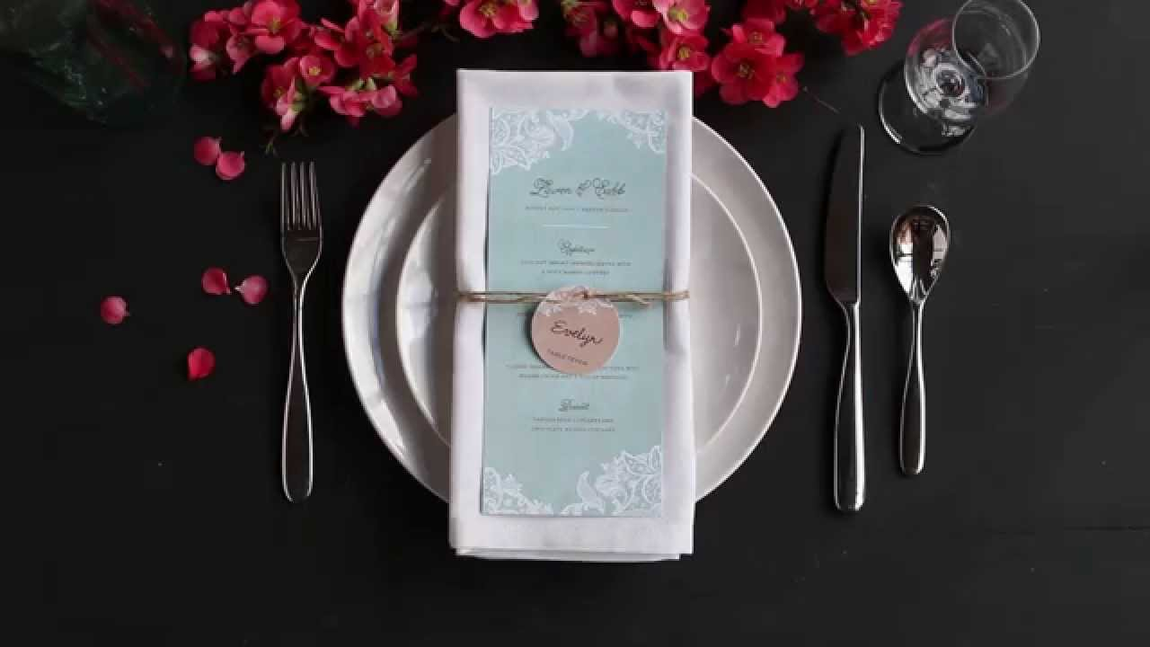 & Table Setting Tips: Menu Napkin Folds - Basic Napkin Fold - YouTube