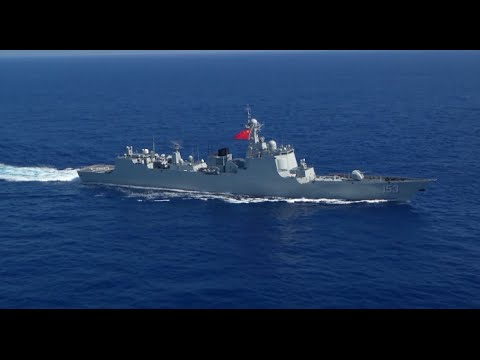 Chinese Destroyer Xi'an Commands Training Exercises at RIMPAC Naval Drills