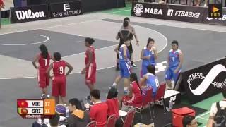 Sri Lanka vs Vietnam (WOMEN) - Malaysia 2016 FIBA 3x3 U18 Asian Championships (Day 1)