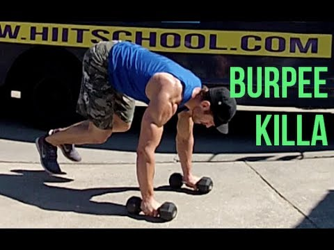 Burpee Workout - Total Body Routine With Dumbbells