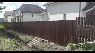 Забор из профлиста на сваях 30 метров за 4 дня в Гостагаевской станице в Анапском районе.