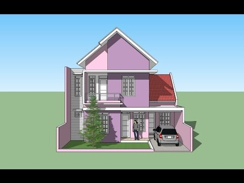 Sweet home design using Google Sketchup - YouTube