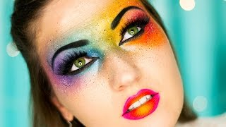 OMG Neon Rainbow Makeup ♥ Bright Colors!!