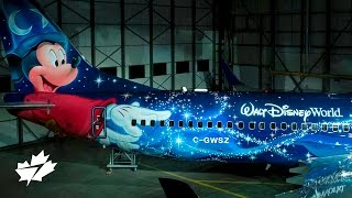 Unveiling the WestJet Magic Plane