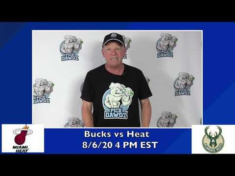 Milwaukee Bucks vs Miami Heat 8/6/20 Free NBA Pick and Prediction NBA Betting Tips