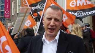 GMB demonstration against 1700 environment agency job cuts