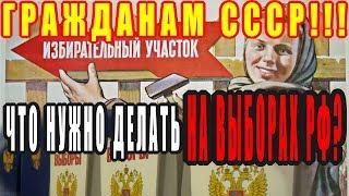 Что нужно сделать на выборах РФ гражданам СССР? [24.02.2018]