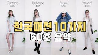 요즘 한국 패션 60초 요약  #shorts korea…