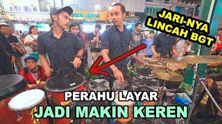 Download lagu Kompaknya Rampak Kendang Pras & Gomad Mainkan PERAHU LAYAR - Selo Ketipung Angklung Carehal Jogja