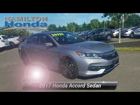 Certified 2017 Honda Accord Sedan Sport SE, Hamilton Township, NJ 27454L