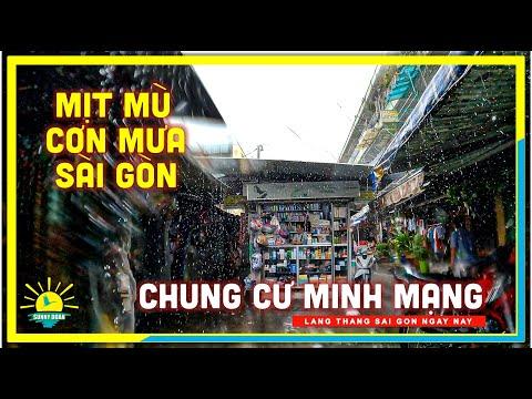 Sài Gòn Mịt Mù Cơn Mưa   Chung Cư Minh Mạng (Ngô Gia Tự) Quận 5   lang thang Sài Gòn