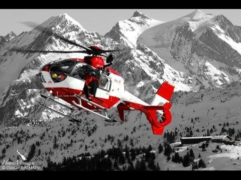 SAF Hélicoptères . Activité secours en montagne - Alpine rescue. Mountain rescue