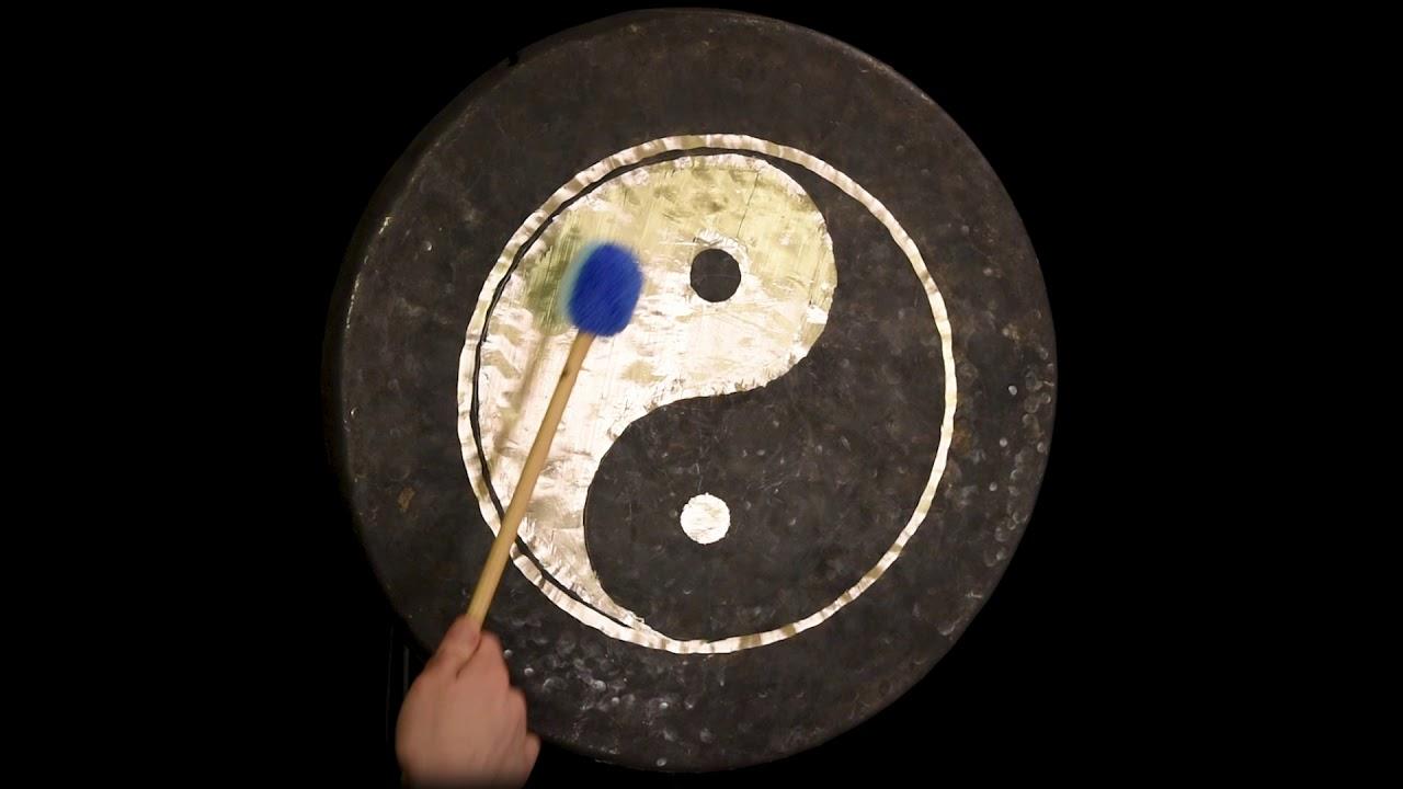 """22"""" taoist moonlight  yin yang chau gong  gongs"""