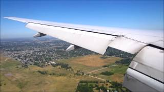 Houston - Buenos Aires EZE on United Boeing 777 + the Andes + airline routes  hearing