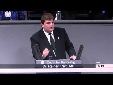 18.01.2018 Dr. Rainer Kraft AfD führt die Grünen, zum Thema Klimaschutz, vor