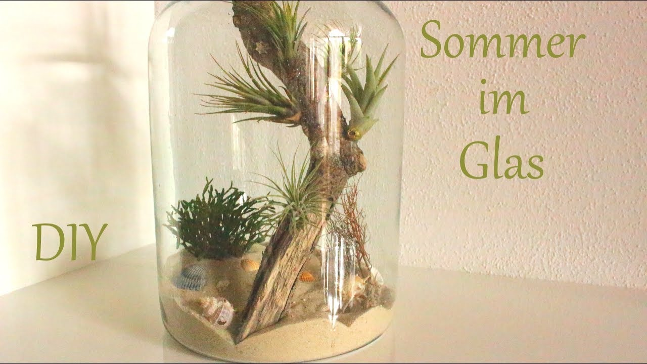 diy sommer im glas kleine d nenlandschaft sommerdeko just deko youtube. Black Bedroom Furniture Sets. Home Design Ideas