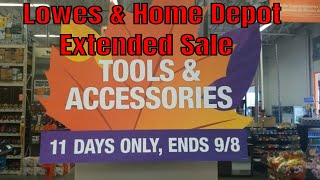 Lowes   Home Depot Extended Sale After Labor Day