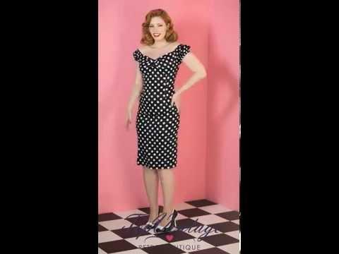 TopVintage - 50s Dolores dress black white polka dot retro