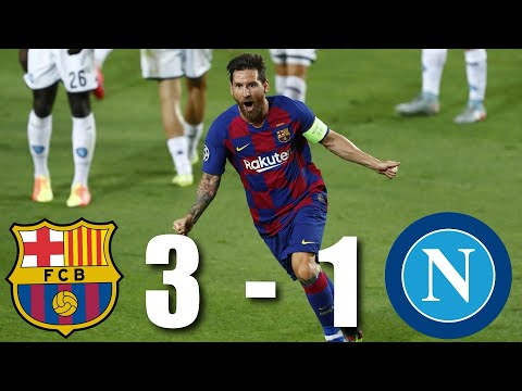 Barcelona vs Napoli [3-1], Champions League, Round of 16, 2nd Leg - MATCH REVIEW